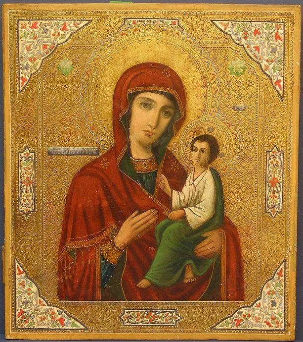 Икона Тихвинской Богоматери (Богородицы)